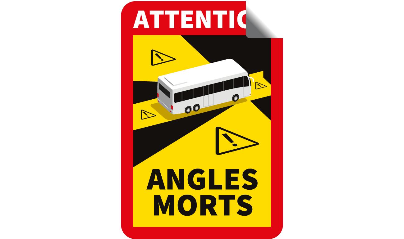 Aufkleber Angles Mortes - Toter Winkel
