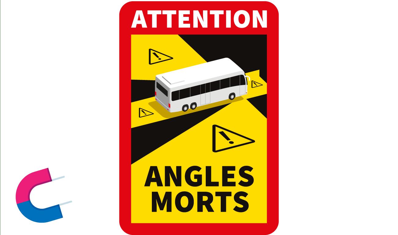 Magnetschild Angles Mortes - Toter Winkel