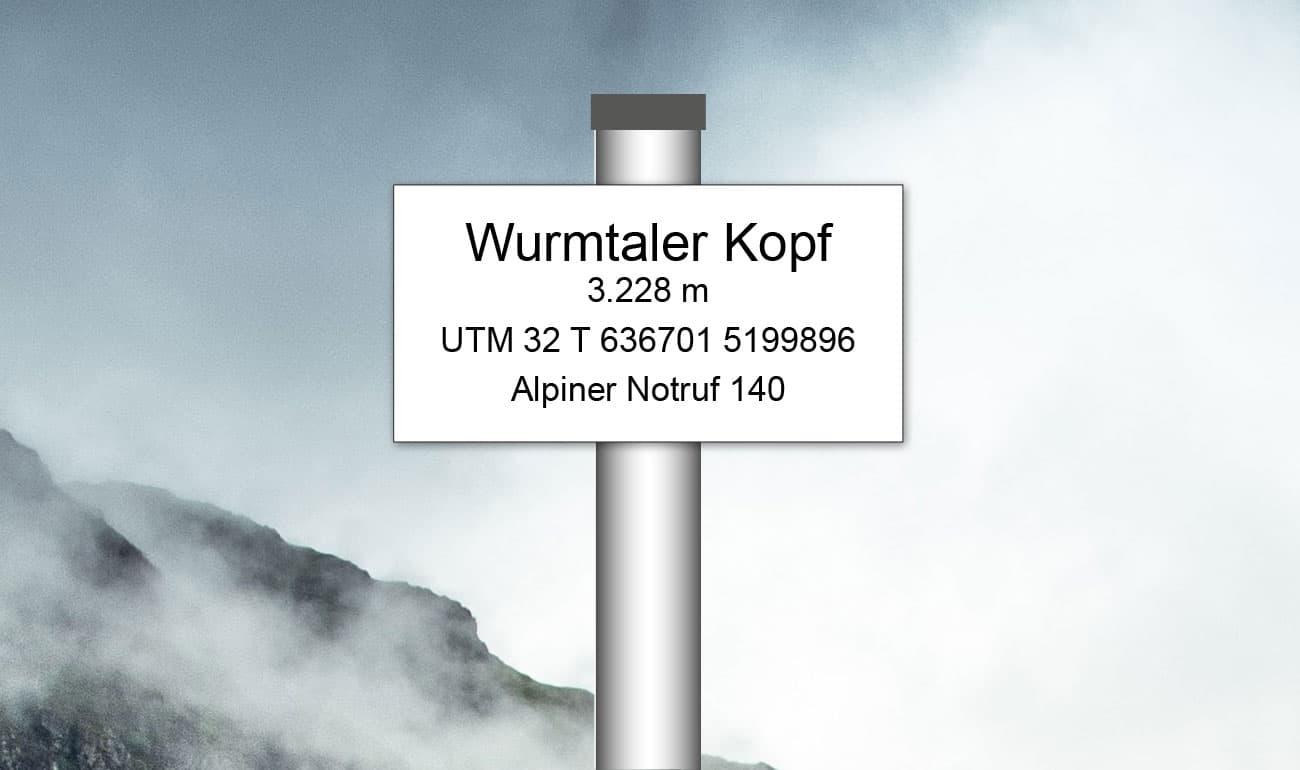 Standorttafel deutscher Alpenverein